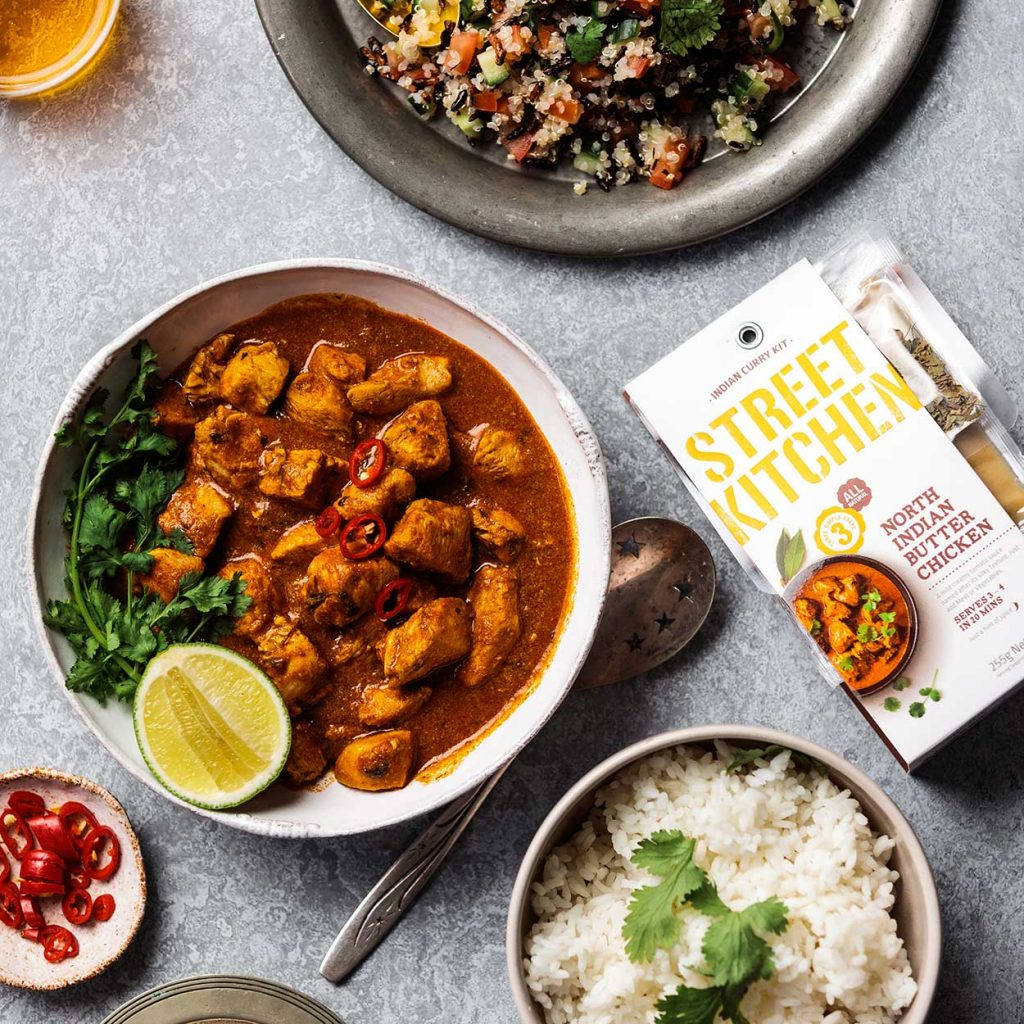 Street Kitchen Butter Chicken Kit and a delicious butter chicken curry